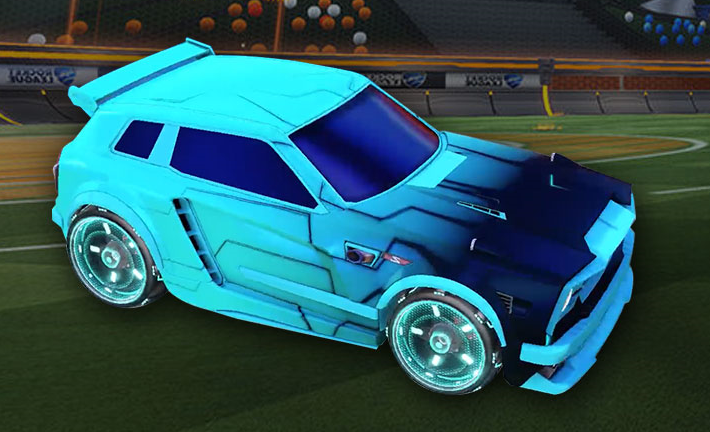 5 Great Sky Blue Fennec Cars Good Looking Painted Rocket League
