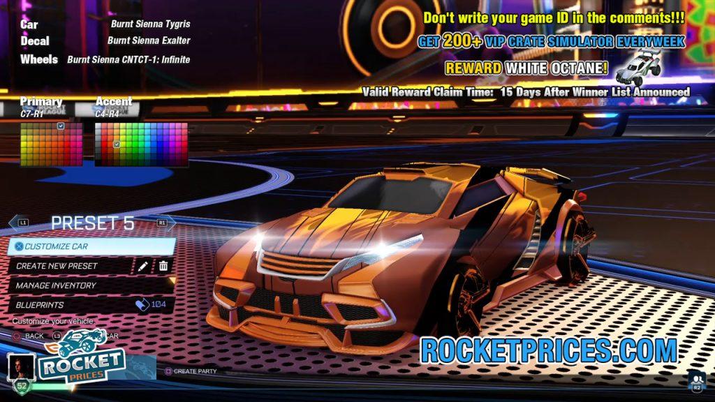 Rocket League Tygris Design 4