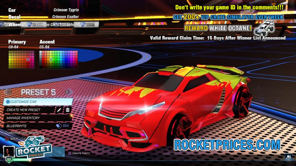 Rocket League Tygris Design 9